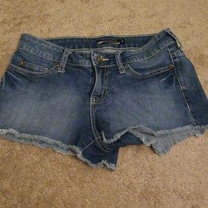 Faded Wash Denim Shorts. Size 3